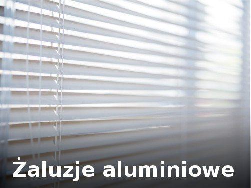 Żaluzje aluminiowe na okienne